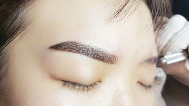 Korean eyebrow embroidery Singapore